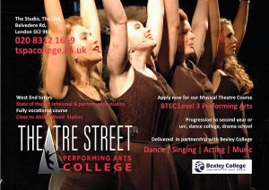 Theatre Street Performing Arts College advert